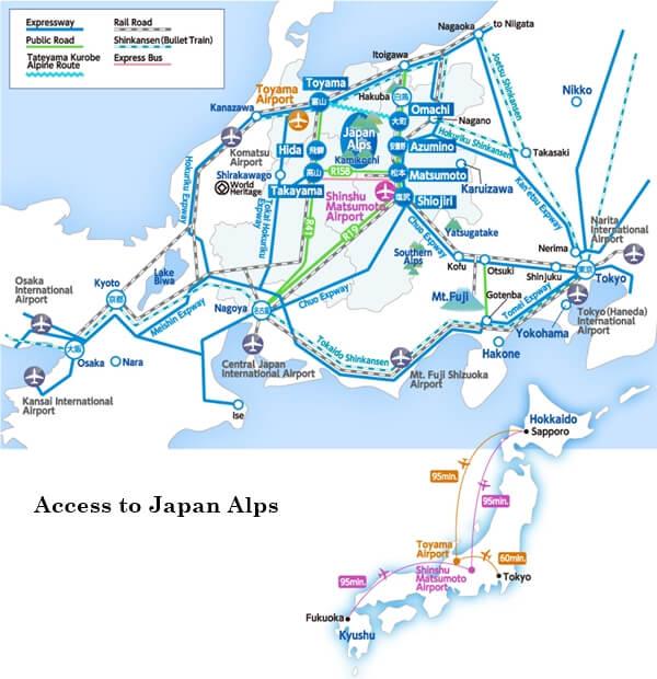 ท่องเที่ยว Japan Alps ฉบับรวบรัดแต่ชัดเจน